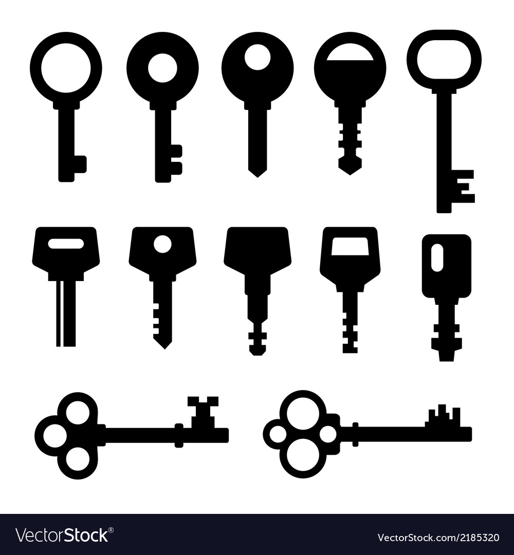 Keys icons vector | Price: 1 Credit (USD $1)