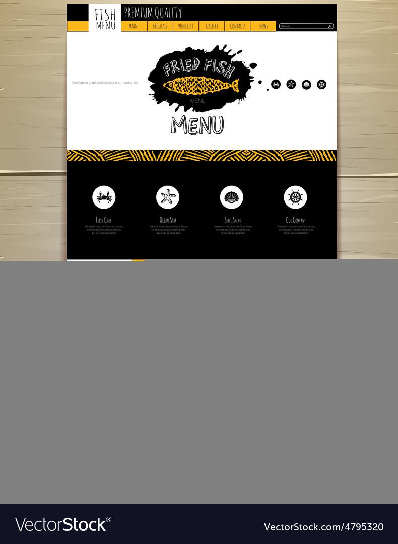Seafood concept web site design vector   Price: 1 Credit (USD $1)