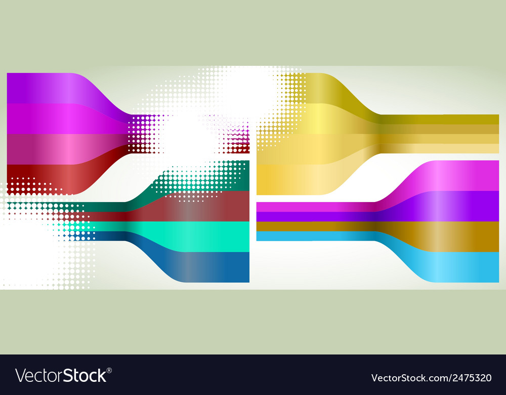 Set of four multicolor lines eps 8 vector | Price: 1 Credit (USD $1)