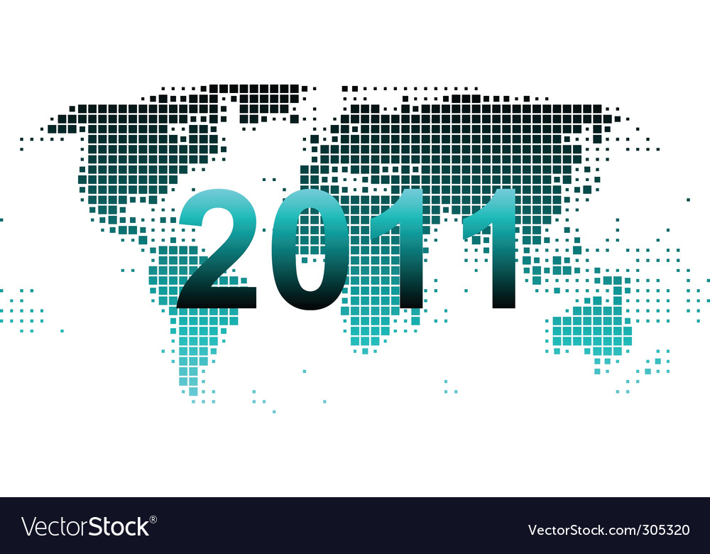 World map 2011 vector | Price: 1 Credit (USD $1)