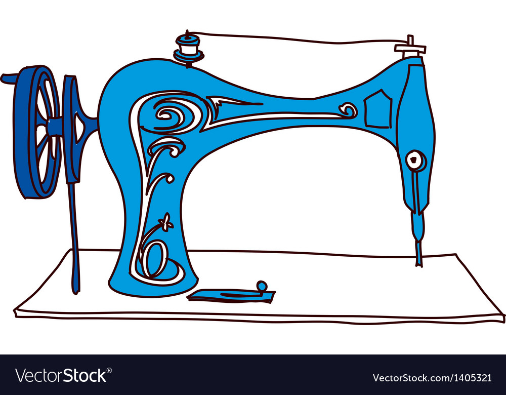 A sewing machine vector | Price: 1 Credit (USD $1)