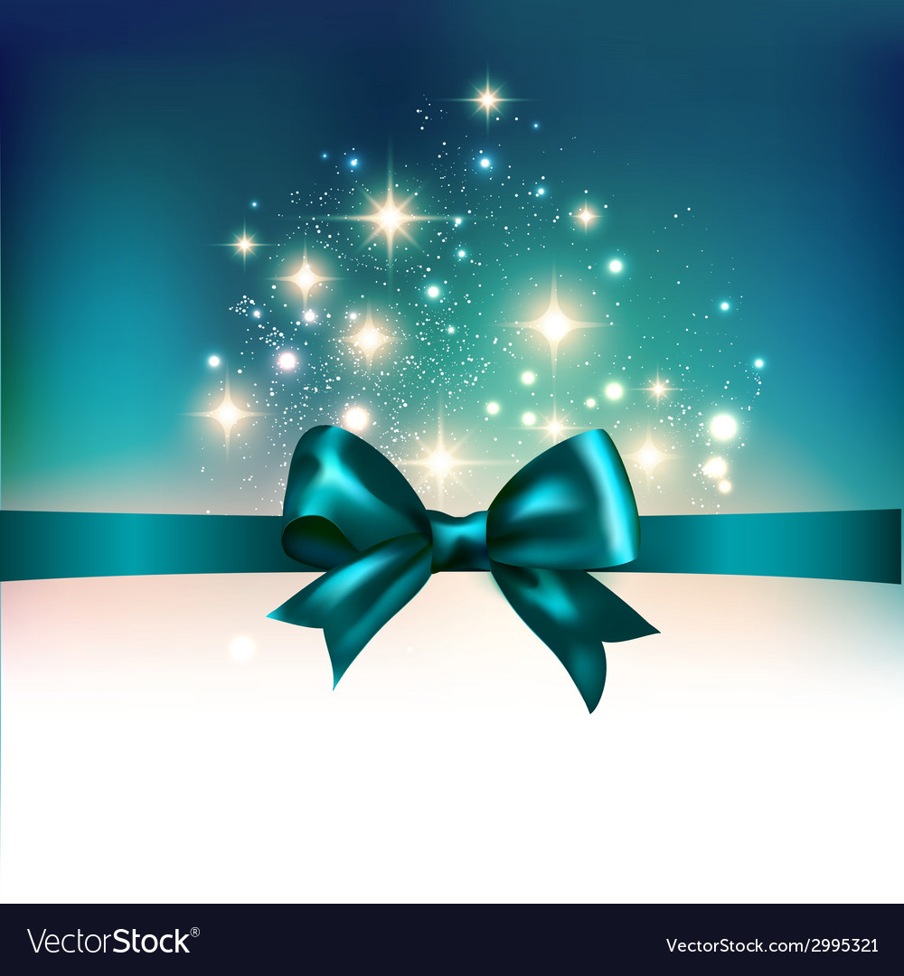 Abstract christmas light background with ribbon vector | Price: 1 Credit (USD $1)