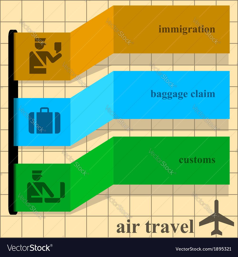 Air travel vector | Price: 1 Credit (USD $1)