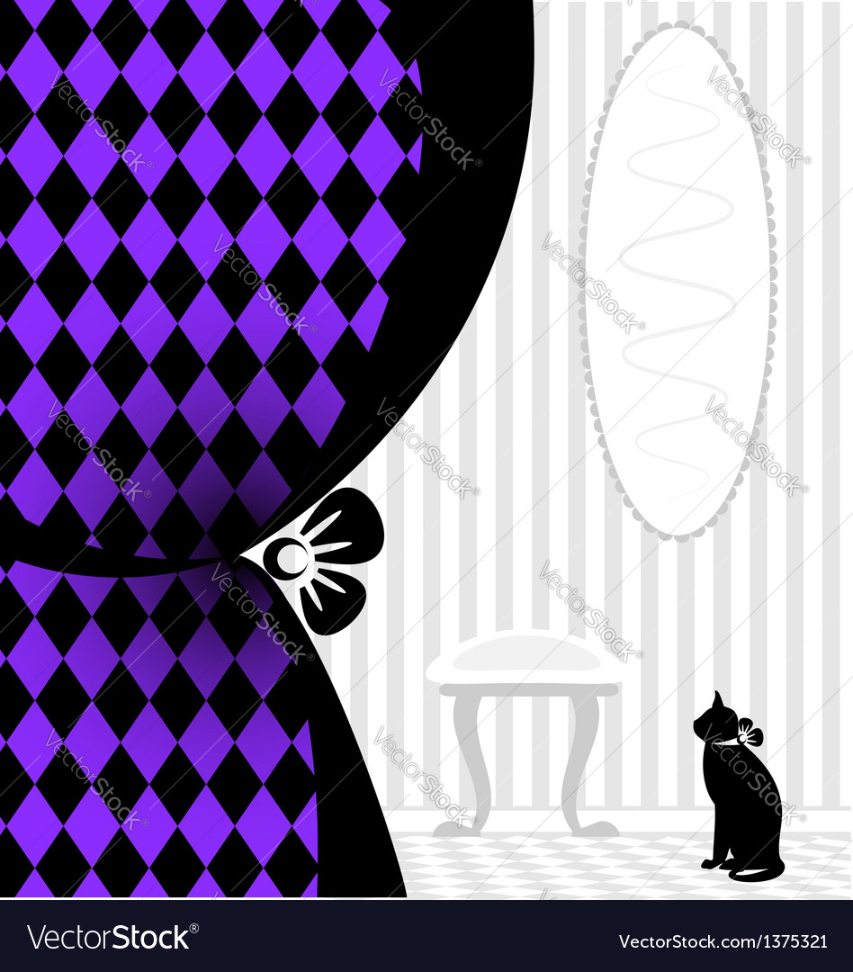Background fantasy black cat vector | Price: 1 Credit (USD $1)
