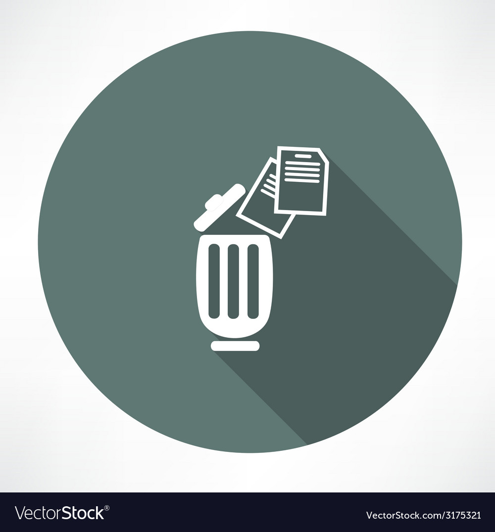 Bin with documents icon vector | Price: 1 Credit (USD $1)