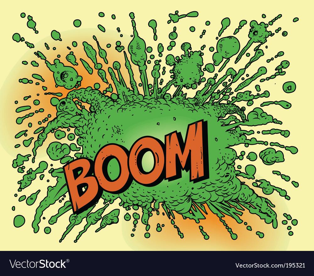 Cartoon explosion vector
