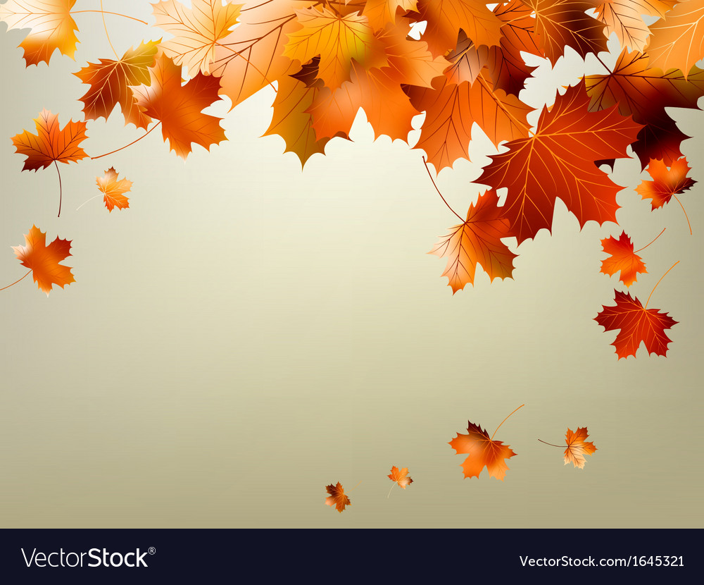 Colorful autumn leaves falling eps 10 vector | Price: 1 Credit (USD $1)