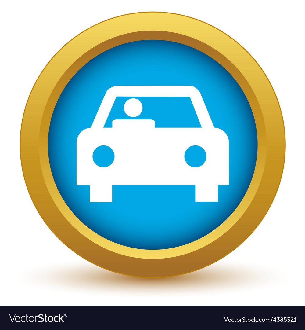 Gold car icon vector | Price: 1 Credit (USD $1)