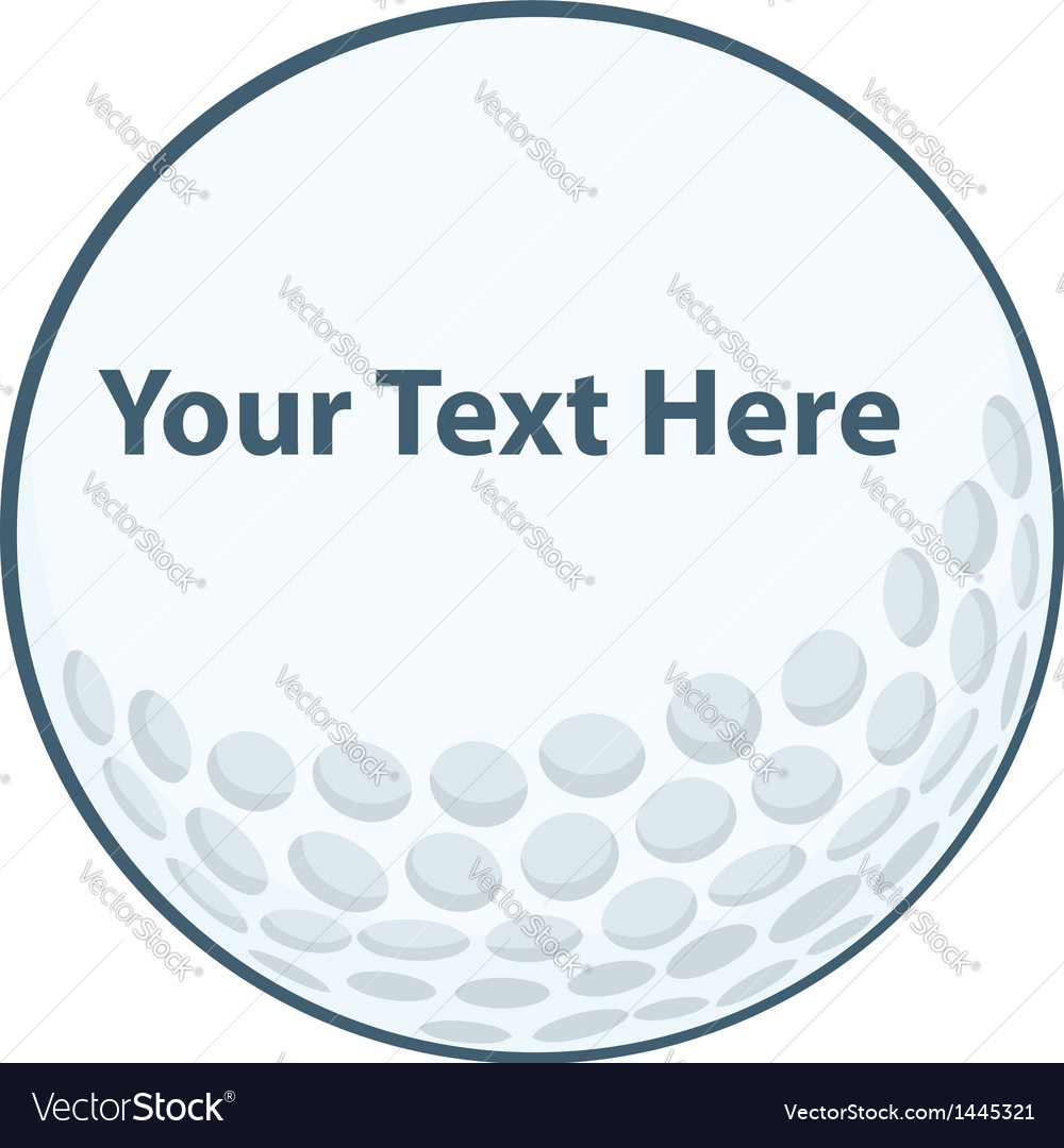 Golf ball sign vector | Price: 1 Credit (USD $1)
