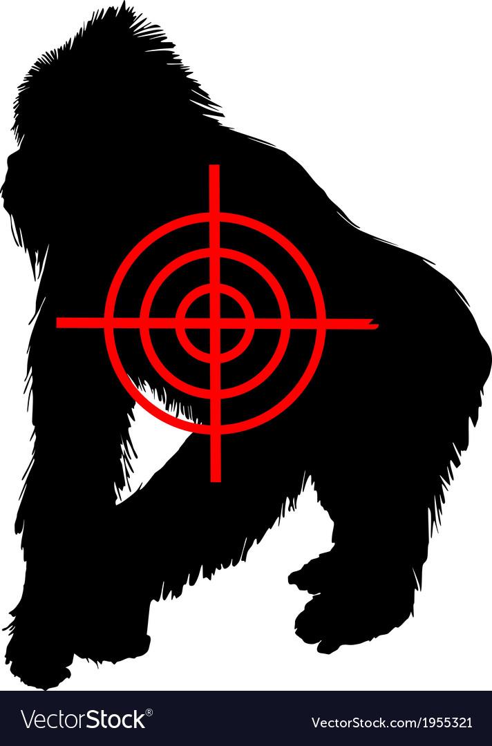 Gorilla crosslines vector