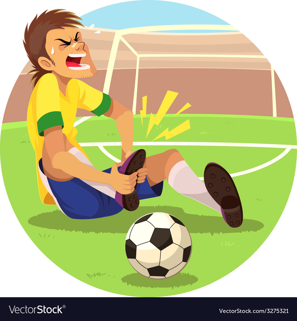 Injured soccer player vector | Price: 1 Credit (USD $1)