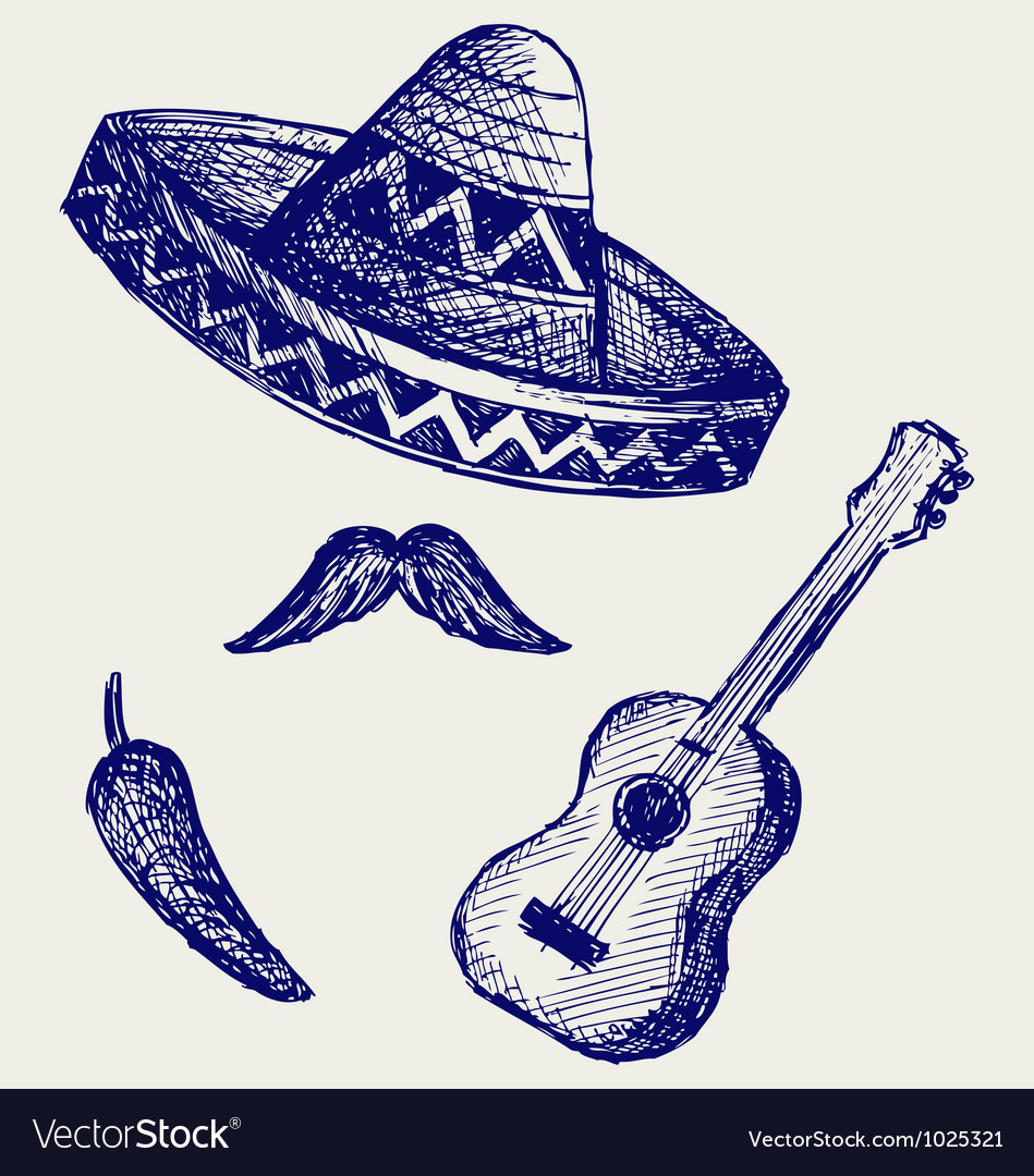 Mexican symbols vector | Price: 1 Credit (USD $1)
