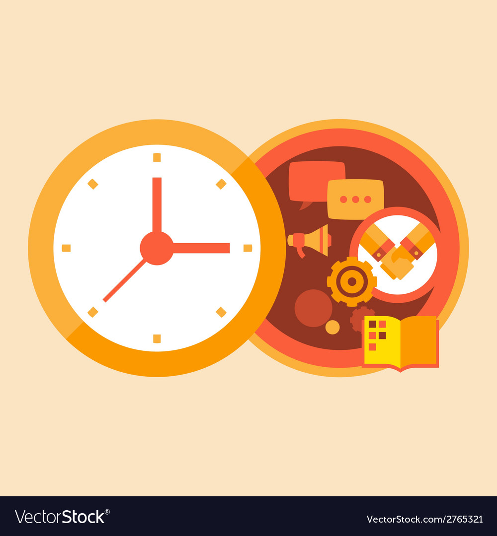 Time business and meetings with partners vector | Price: 1 Credit (USD $1)