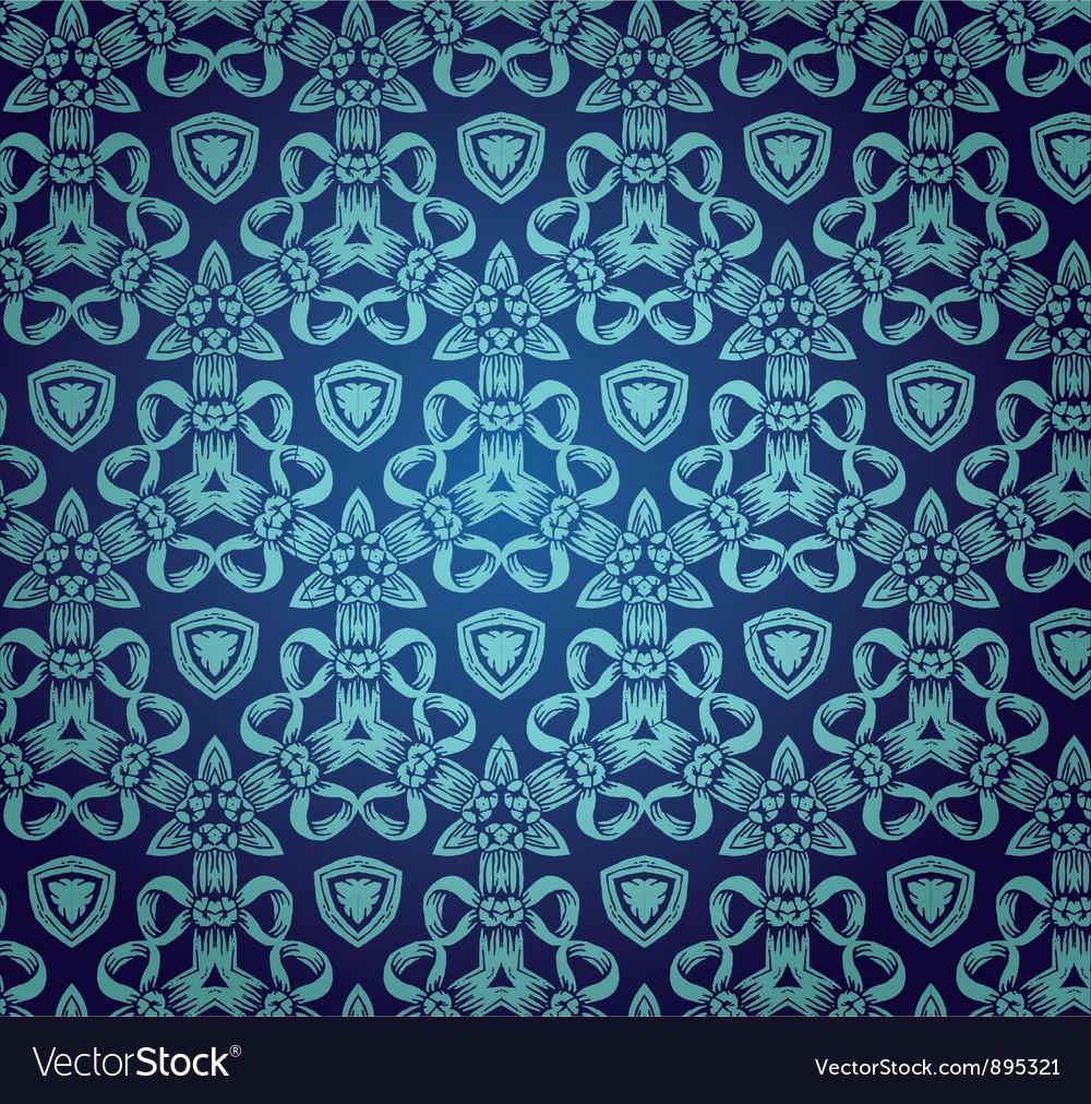 Vintage floral baroque pattern vector | Price: 1 Credit (USD $1)