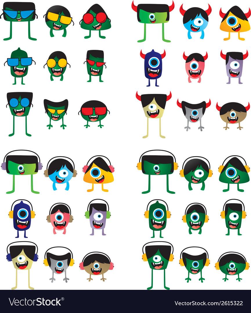 Cartoon monster design vector   Price: 1 Credit (USD $1)