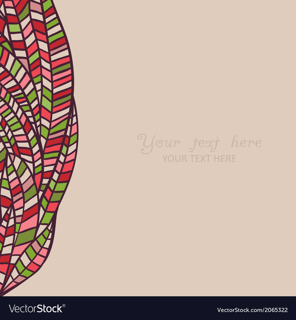 Colorful abstract hand-drawn pattern waves vector | Price: 1 Credit (USD $1)
