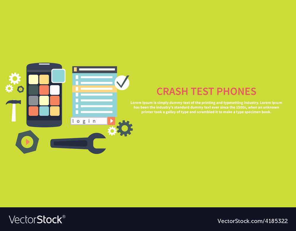 Crash test phones vector | Price: 1 Credit (USD $1)