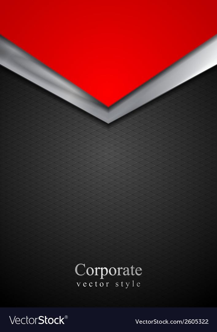 Dark silver and red tech arrows design vector | Price: 1 Credit (USD $1)
