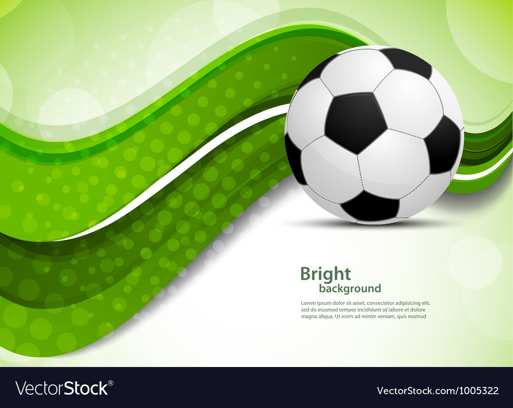 Green background with soccer ball vector | Price: 1 Credit (USD $1)