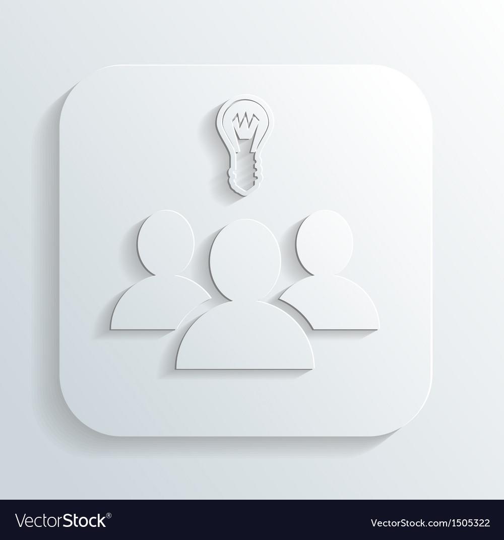 Idea of the icon vector | Price: 1 Credit (USD $1)