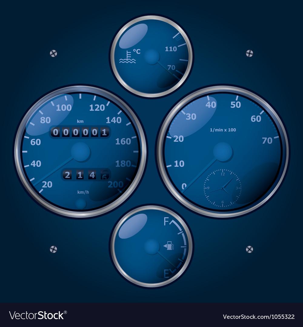 Speedometers vector | Price: 1 Credit (USD $1)