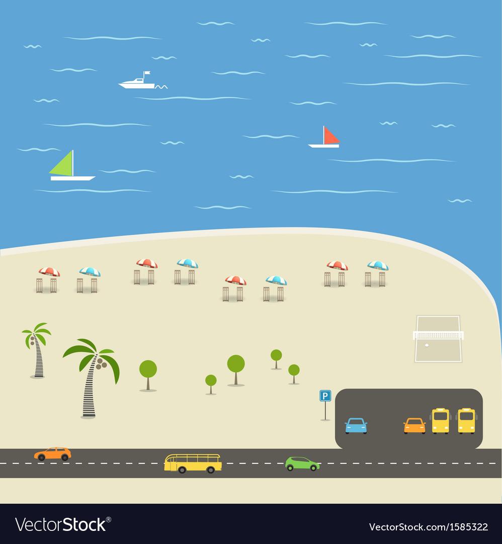 Summer season beach vacation vector | Price: 1 Credit (USD $1)