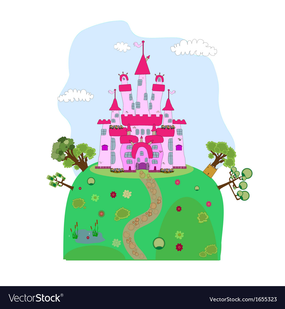 A magic castle vector | Price: 1 Credit (USD $1)