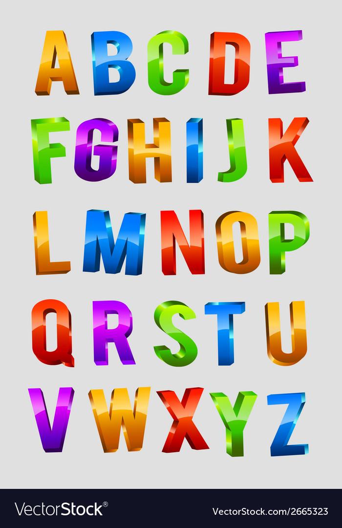 Alphabet 3d text vector | Price: 1 Credit (USD $1)
