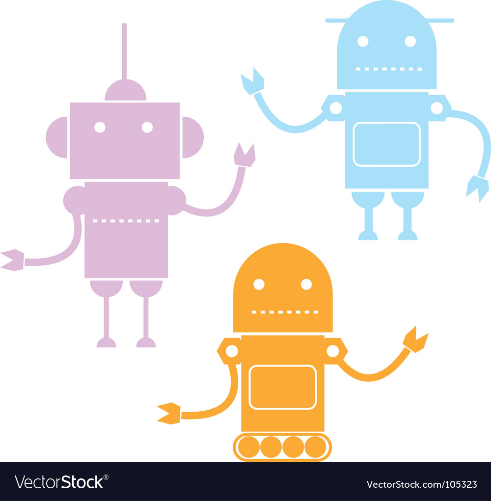 Cartoon robots vector | Price: 1 Credit (USD $1)