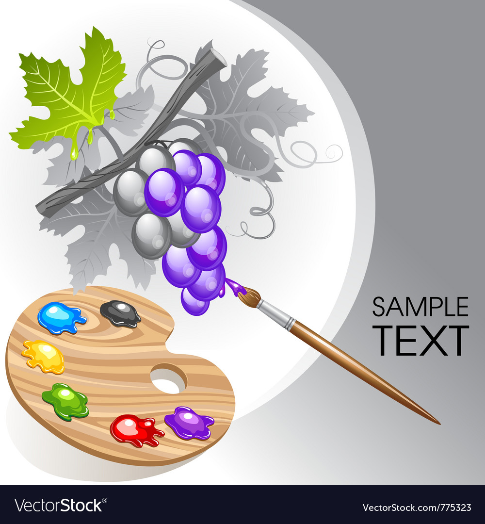 Coloring the grape vector | Price: 3 Credit (USD $3)