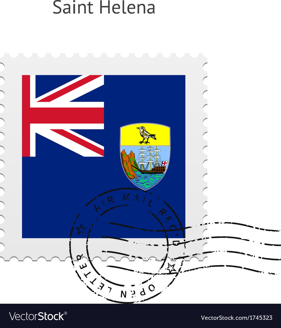 Saint helena flag postage stamp vector | Price: 1 Credit (USD $1)