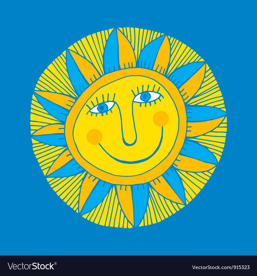Smiling sun vector | Price: 1 Credit (USD $1)