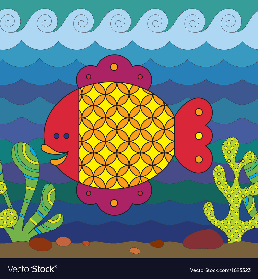 Stylize fish vector | Price: 1 Credit (USD $1)