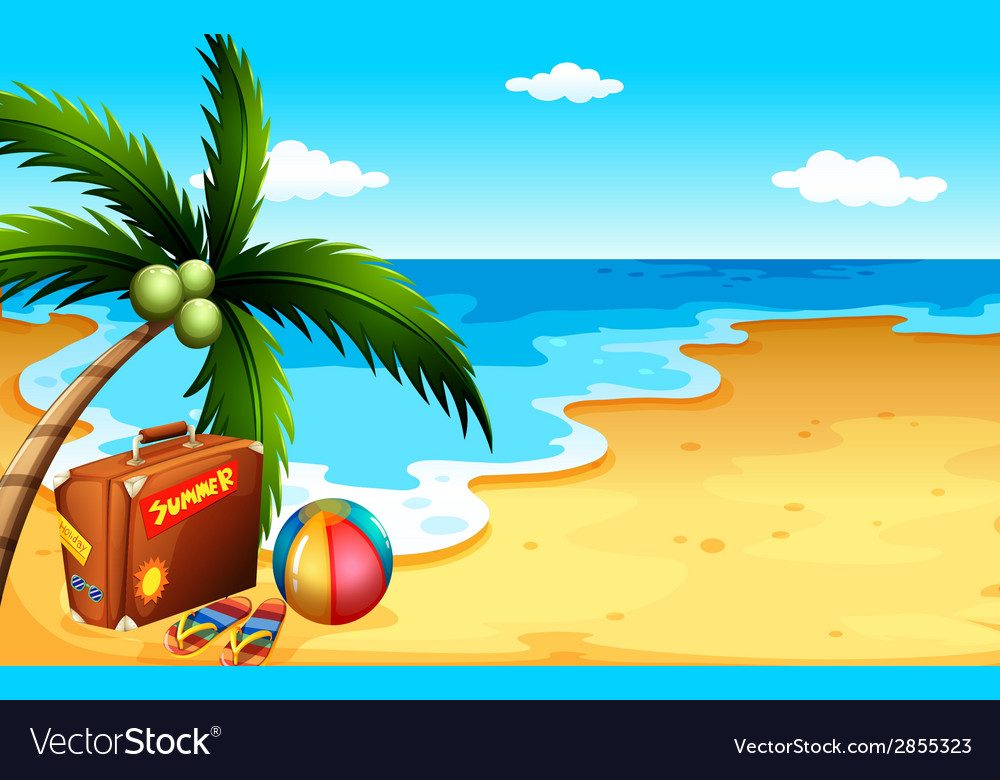 Summer at the beach vector | Price: 1 Credit (USD $1)