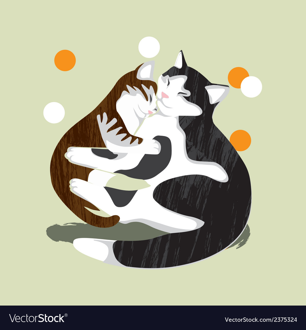 Cat and kitten vector | Price: 1 Credit (USD $1)