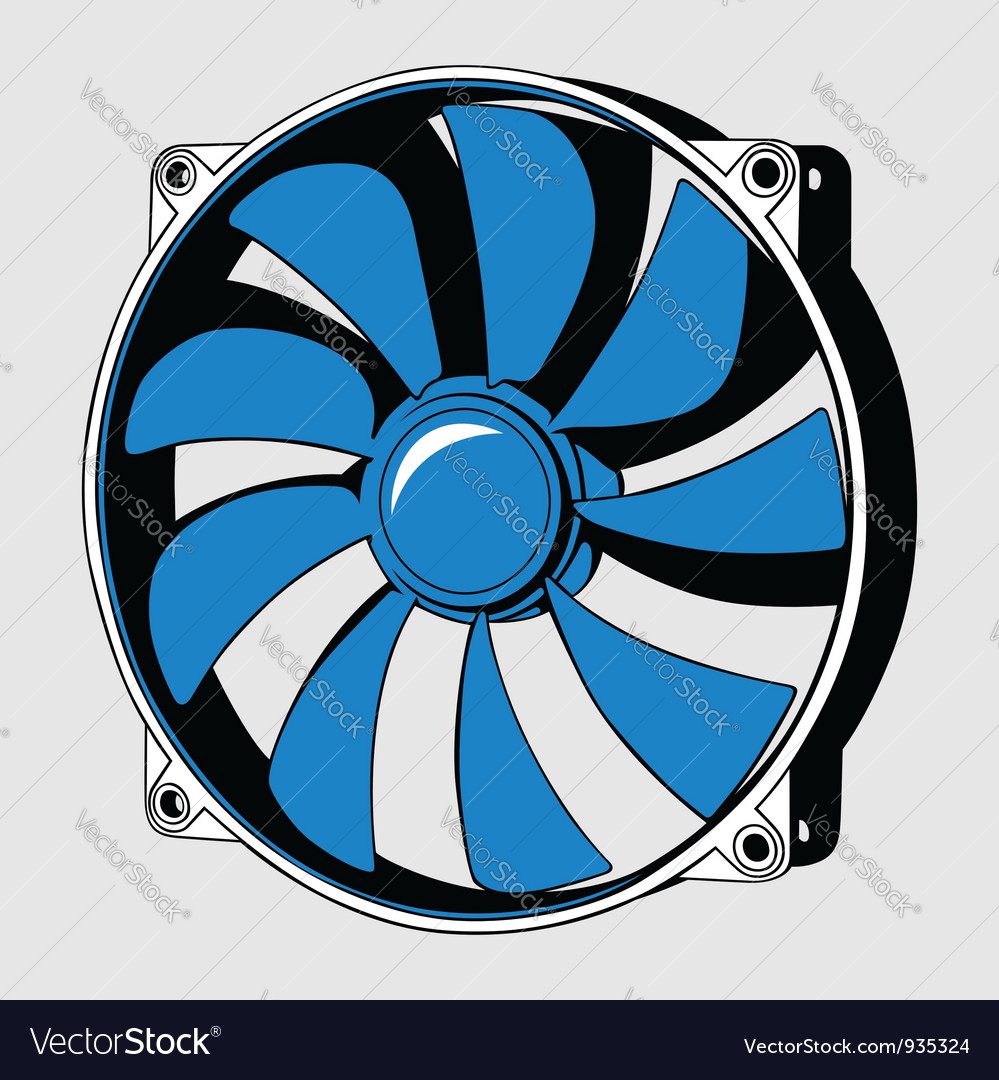 Computer fan vector | Price: 1 Credit (USD $1)