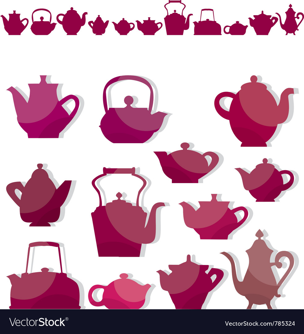 Kettle tea vector | Price: 1 Credit (USD $1)