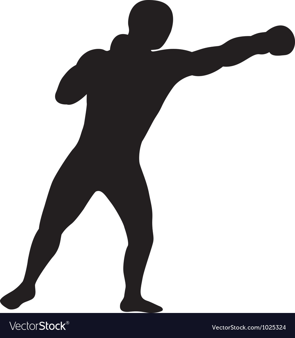 Left jab outline vector | Price: 1 Credit (USD $1)