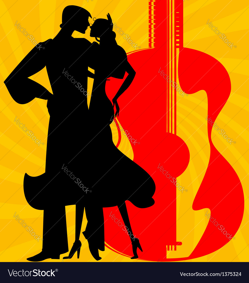 Silhouette of flamenco dancers vector | Price: 1 Credit (USD $1)