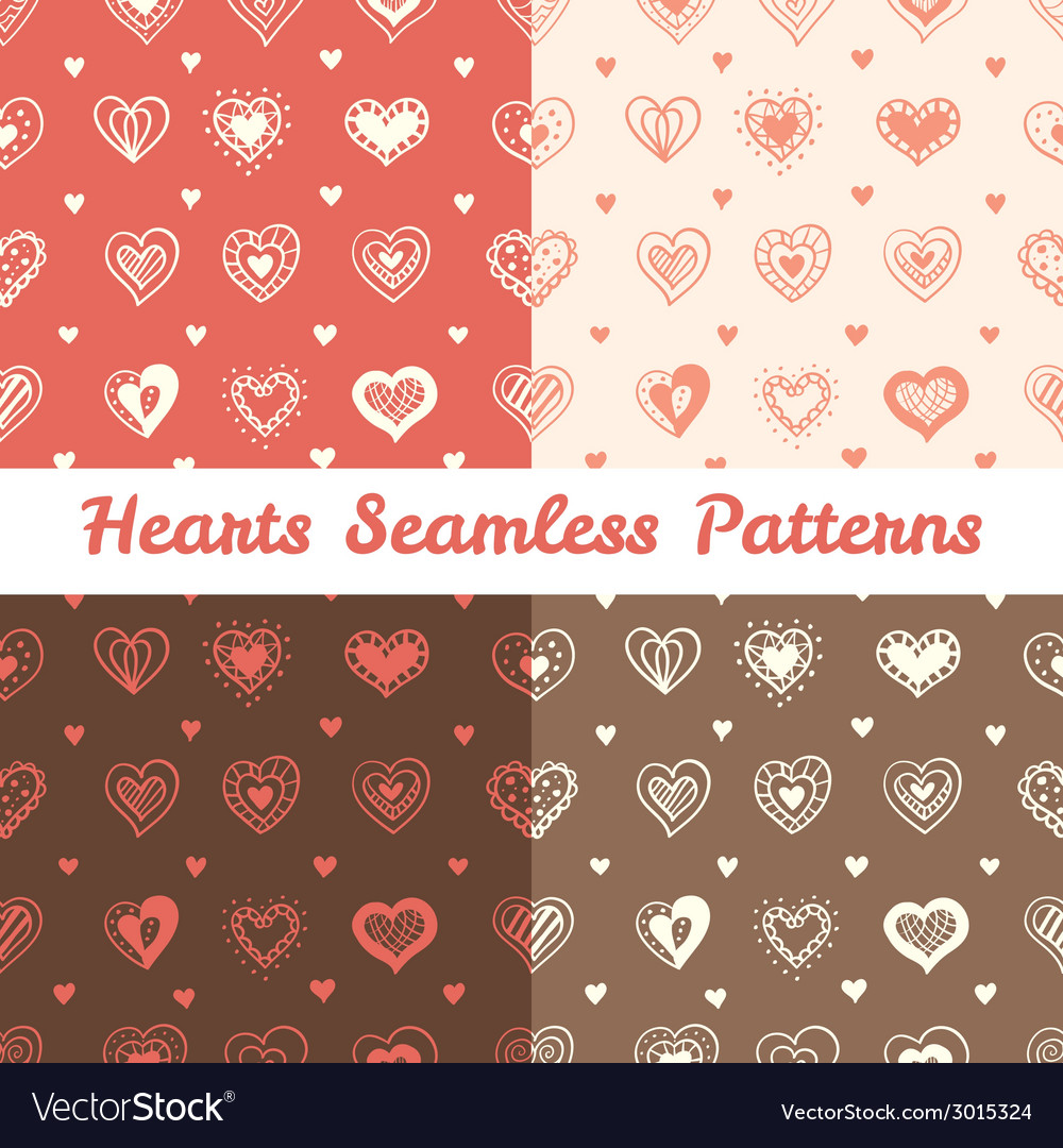 Soft hand drawn doodle hearts st valentine day vector | Price: 1 Credit (USD $1)