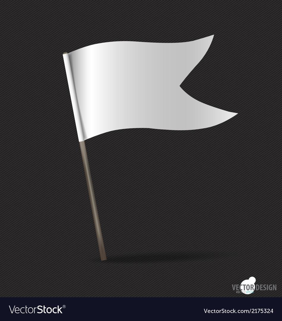 White flag vector | Price: 1 Credit (USD $1)