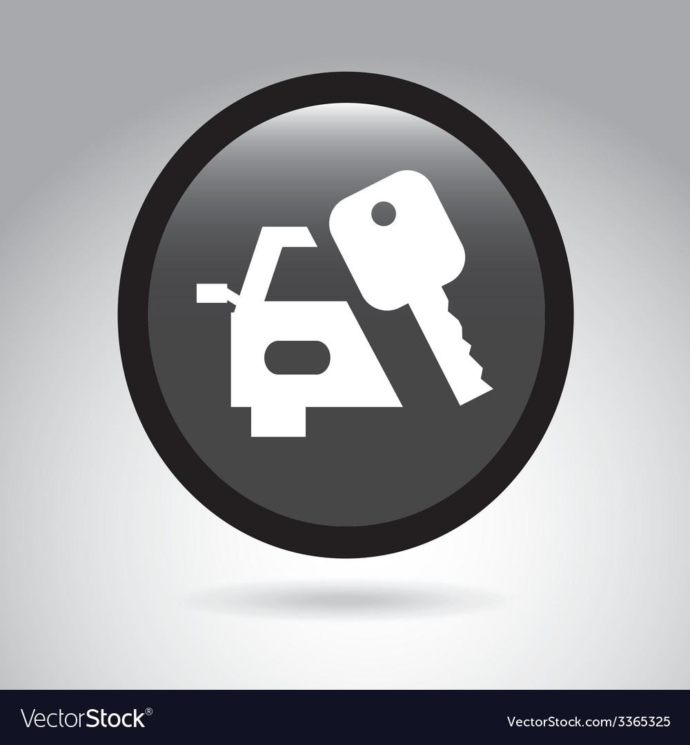 Car button design vector | Price: 1 Credit (USD $1)