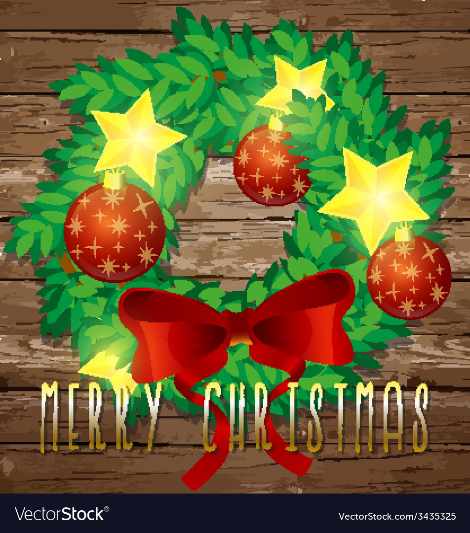 Christmas decorative wreath vector | Price: 1 Credit (USD $1)