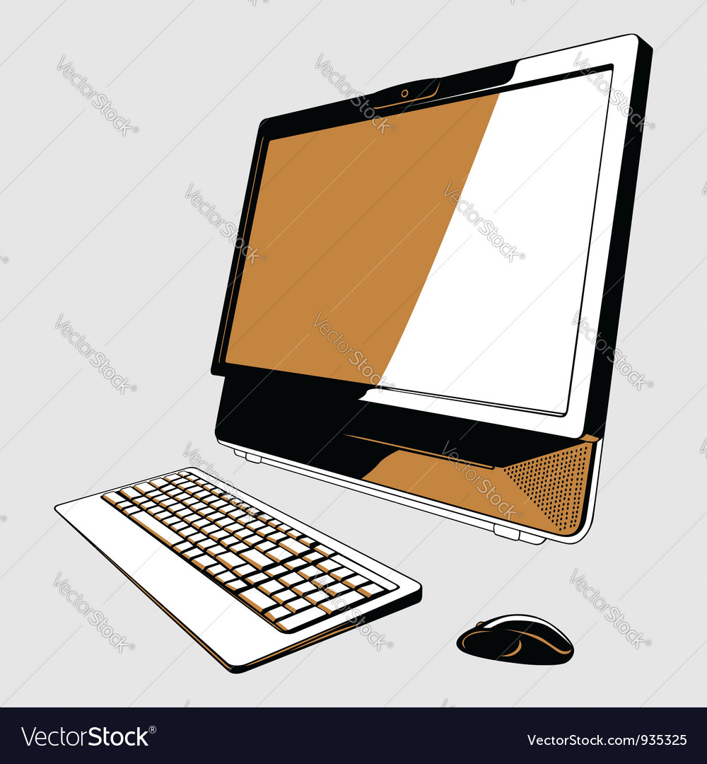 Desktop pc vector | Price: 1 Credit (USD $1)