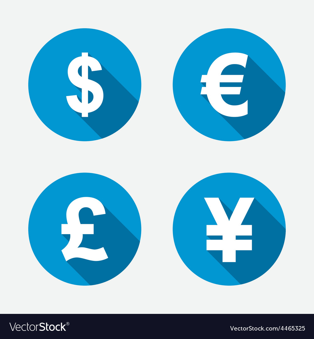 Dollar euro pound and yen currency icons vector   Price: 1 Credit (USD $1)