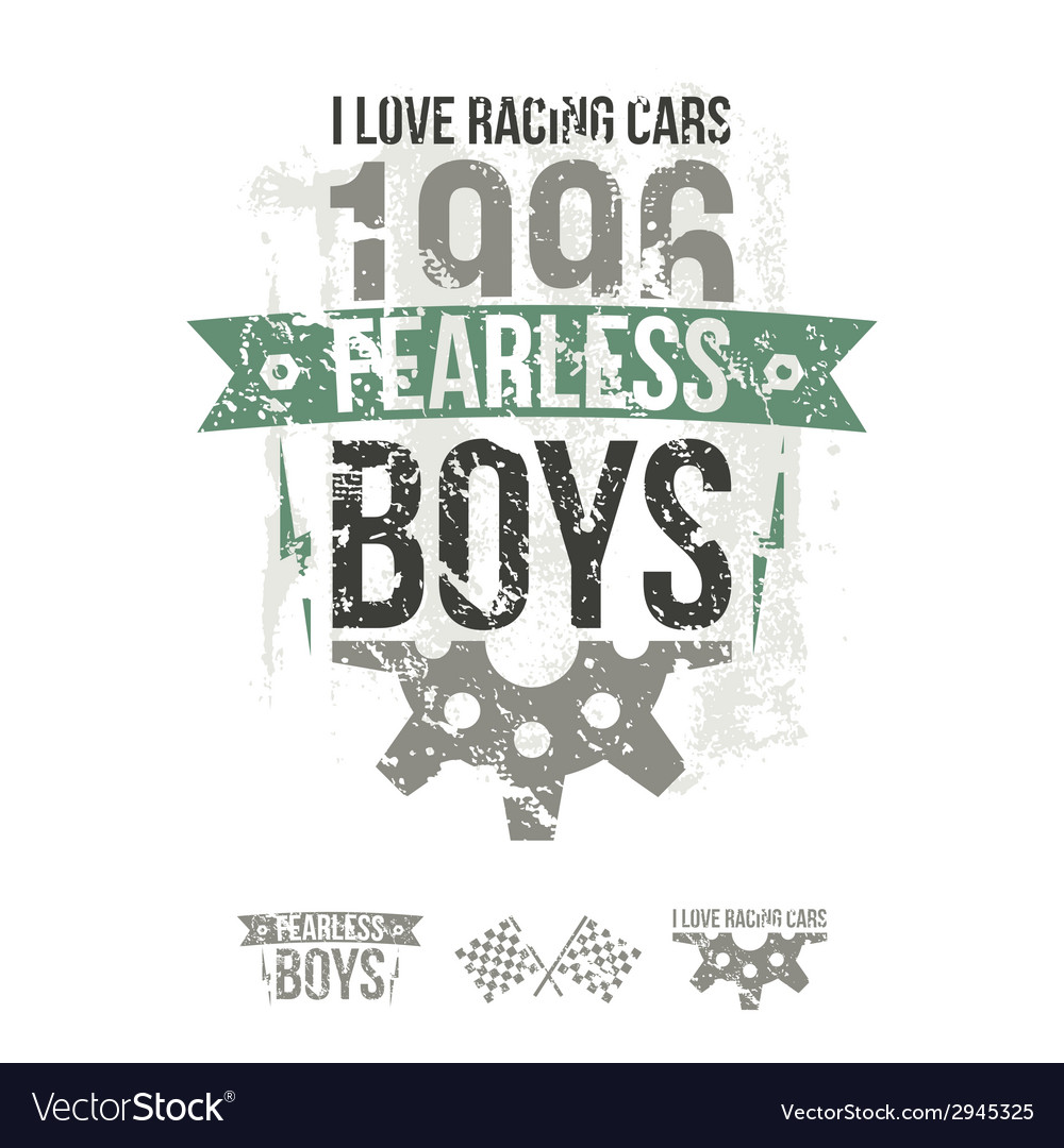 Emblem of the fearless riders boys in retro style vector | Price: 1 Credit (USD $1)