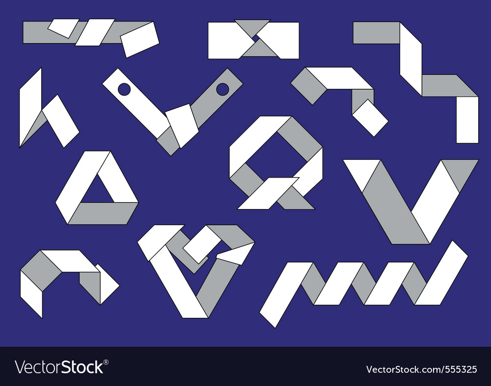 Folded strips of paper vector | Price: 1 Credit (USD $1)