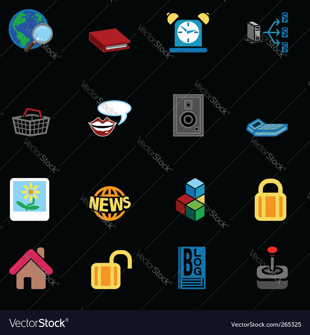 Internet web icons vector | Price: 3 Credit (USD $3)