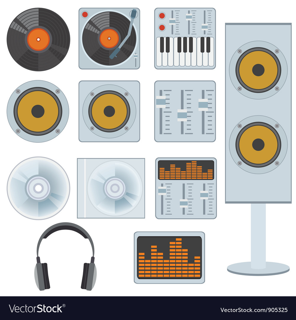 Music equipment vector | Price: 3 Credit (USD $3)