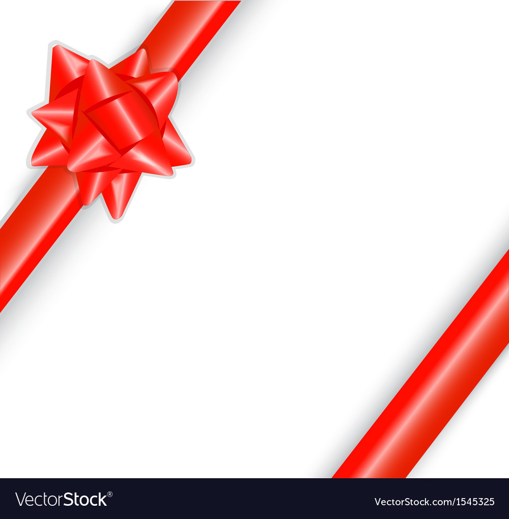 Shiny red bow vector | Price: 1 Credit (USD $1)